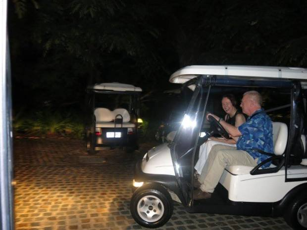 mum and dad golf buggy